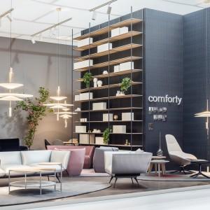 Stoisko firmy Comforty na iSaloni 2017. Fot. Ernest Wińczyk