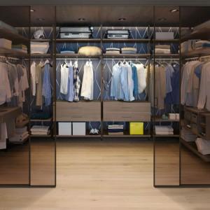 Garderoba otwarta firmy Raumplus. Fot. Raumplus