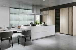 Szafa przesuwna w kuchni - nowe rozwiązanie aranżacyjne