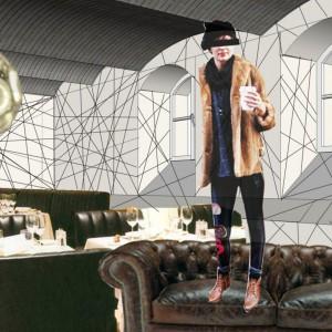 Wnętrze klubu w piwnicy 13 muz. Projekt Tomasz Sachanowicz