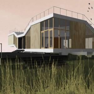 Dom Latający dywan. Projekt Tomasz Sachanowicz