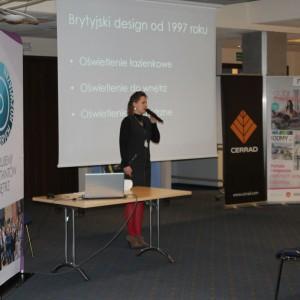 Katarzyna Tworek, przedstawicielka marki Aurora Technika Świetlna. Studio Dobrych Rozwiązań - 11 kwietnia 2018, Bielsko-Biała. Fot. Publikator