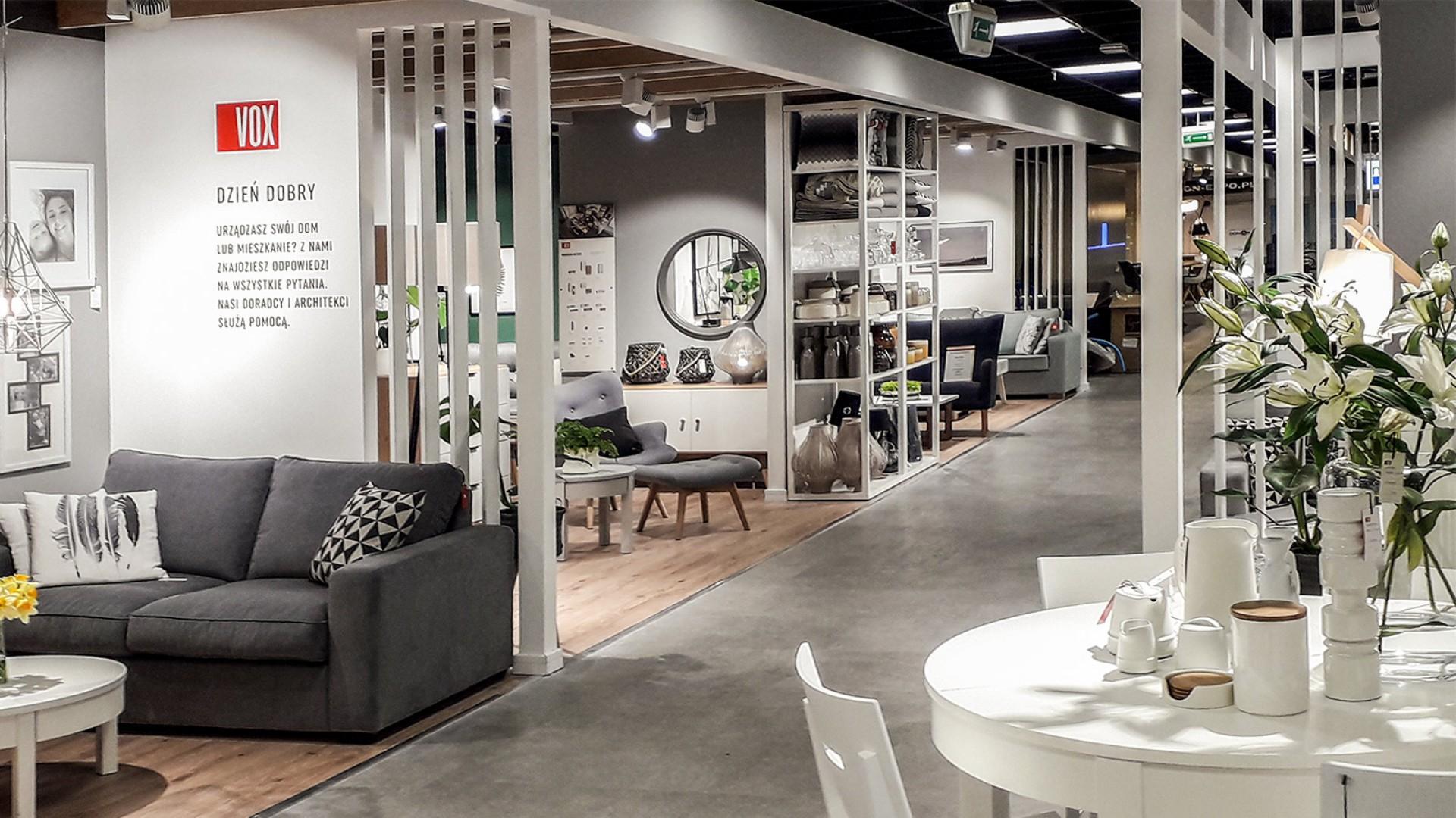 Salon sprzedaży mebli VOX we Wrocławiu. Fot. VOX