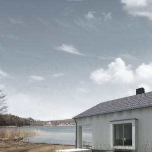 Dom w Wisełce Warnowskiej. Projekt: Tomasz Sachanowicz.