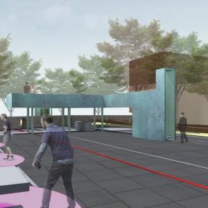 Plac Wolności w Nowogardzie. Projekt konkursowy. Projekt: Tomasz Sachanowicz.