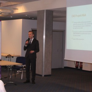 Marcin Pietrzyk, przedstawiciel firmy CAD Projekt. Studio Dobrych Rozwiązań, 11.04 Bielsko-Biała. Fot. Wojciech Napora