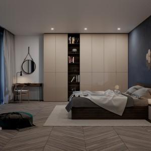 Szafa do sypialni z drzwiami uchylnymi w systemie Opal Fot. Komandor
