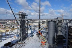 Trwa budowa fabryki Egger w Biskupcu