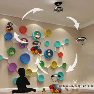 Drony służą pomocą najmłodszym. Od dzisiaj sprzątanie dziecięcej sypialni to świetna zabawa. Projekt: Jia Min Luo, Kang Tian, Yi Fei Zhong. Fot. Hettich/Rehau