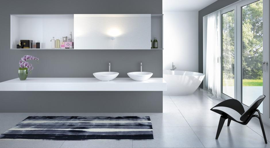 Meble łazienkowe - stwórz sterylne, białe wnętrze!