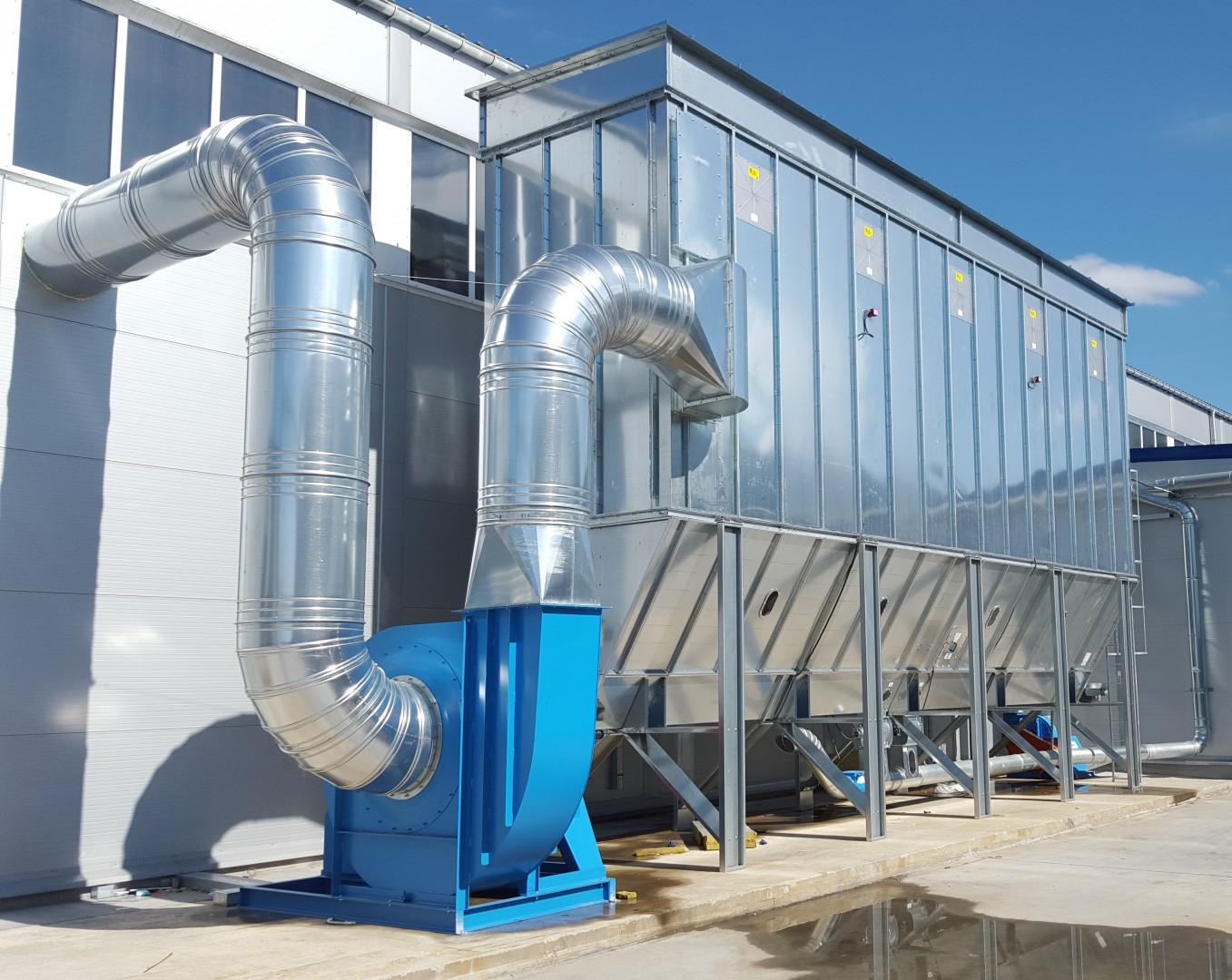 Stabilna i trwała konstrukcja jest gwarancją jakości, ale też bezpieczeństwa całej hali produkcyjnej, z której odprowadzone są pyły mogące tworzyć wybuchowe mieszaniny. Fot. Teknika