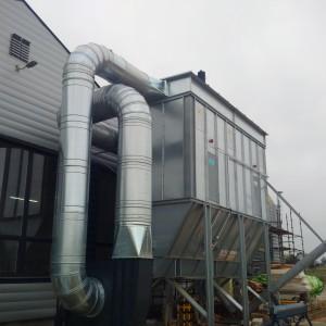 Oprócz odzysku ciepłego powietrza, instalacja Barucca odpowiada również za odzysk odpadów, tj. pyłów drzewnych, które z powodzeniem mogą być stosowane w produkcji ekologicznego paliwa. Fot. IM