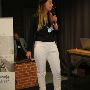 Natalia Stępień z firmy Rejs mówiła o najnowszych rozwiązaniach tej marki. Fot. Publikator