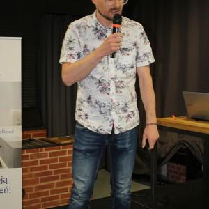 Tomasz Sachanowicz, właściciel pracowni S.LAB Architektura, architekt, gość specjalny spotkania. Fot. Publikator