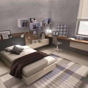 Wygodne łóżko z wezgłowiem, w którym można