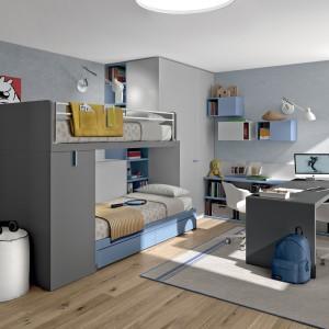 Piętrowe łóżko to rozwiązanie dla rodzeństwa albo dla młodego człowiek, który lubi przyjmować gości na nocne pogaduszki. Fot. Zalf