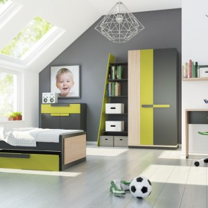 Minimalistyczna forma, ciekawe połączenia kolorów - kolekcja Wow to propozycja dobra zarówno dla nastolatka, jak i dla studenta. Fot. Szynaka Meble