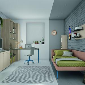 Młodzieżowy pokój w stylu loft. Fot. Lube