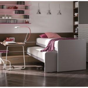 Podwójne łóżko w nieco innej formie. Fot. Dielle