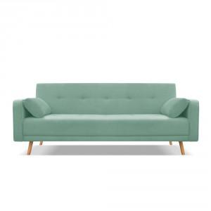 Miętowa czteroosobowa sofa rozkładana Cosmopolitan design Stuttgart, Bonami.pl