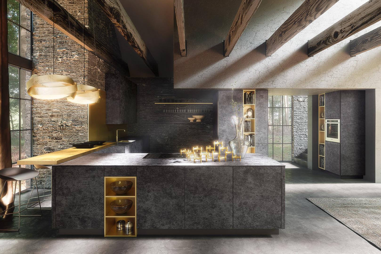 Kuchnia w industrialnym stylu. Fot. Alno