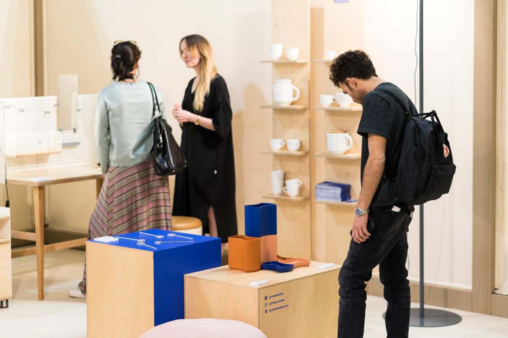 Stoisko Grynasz Studio na targach iSaloni w Mediolanie. Fot. Grynasz Studio