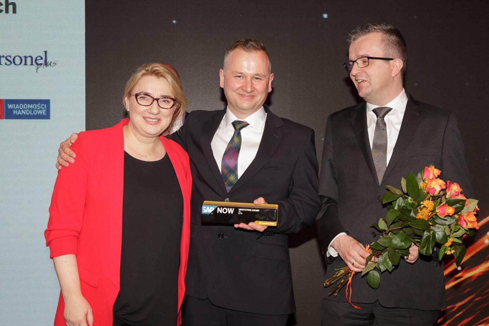 Przedstawiciele firmy GTV z SAP Innovation Award. Fot. GTV