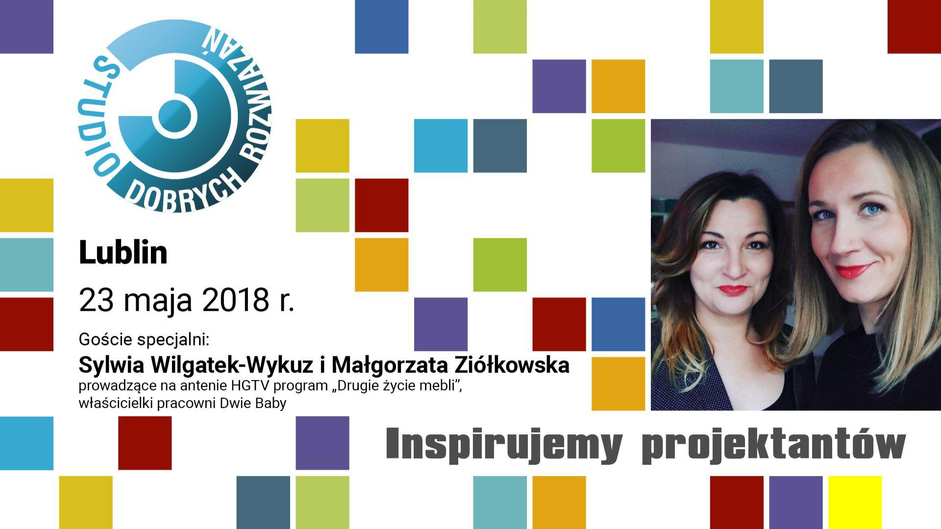 Sylwia Wilgatek-Wykuż i Małgorzata Ziółkowska, prowadzące program Drugie życie mebli, emitowany na antenie HGTV.