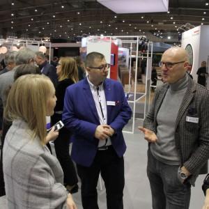 """Maurizio Burrato z zespołu projektowego Interprint był jednym z uczestników forum """"areny Design"""". Fot. Interprint"""