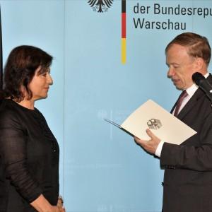 Krystyna Boczkowska, prezes Robert Bosch w Polsce, została odznaczona Orderem Zasługi RFN. Fot. Bosch