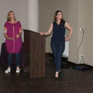 Wystąpienie Gości Specjalnych - Sylwia Wilgatek-Wykuz i Małgorzata Ziółkowska, prowadzące na antenie HGTV program Drugie życie mebli, właścicielki pracowni Dwie Baby. Fot. Publikator
