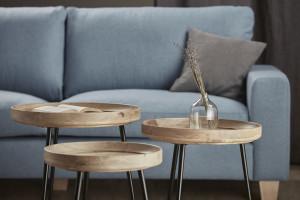 Meble do salonu: stoliki kawowe z okrągłymi blatami