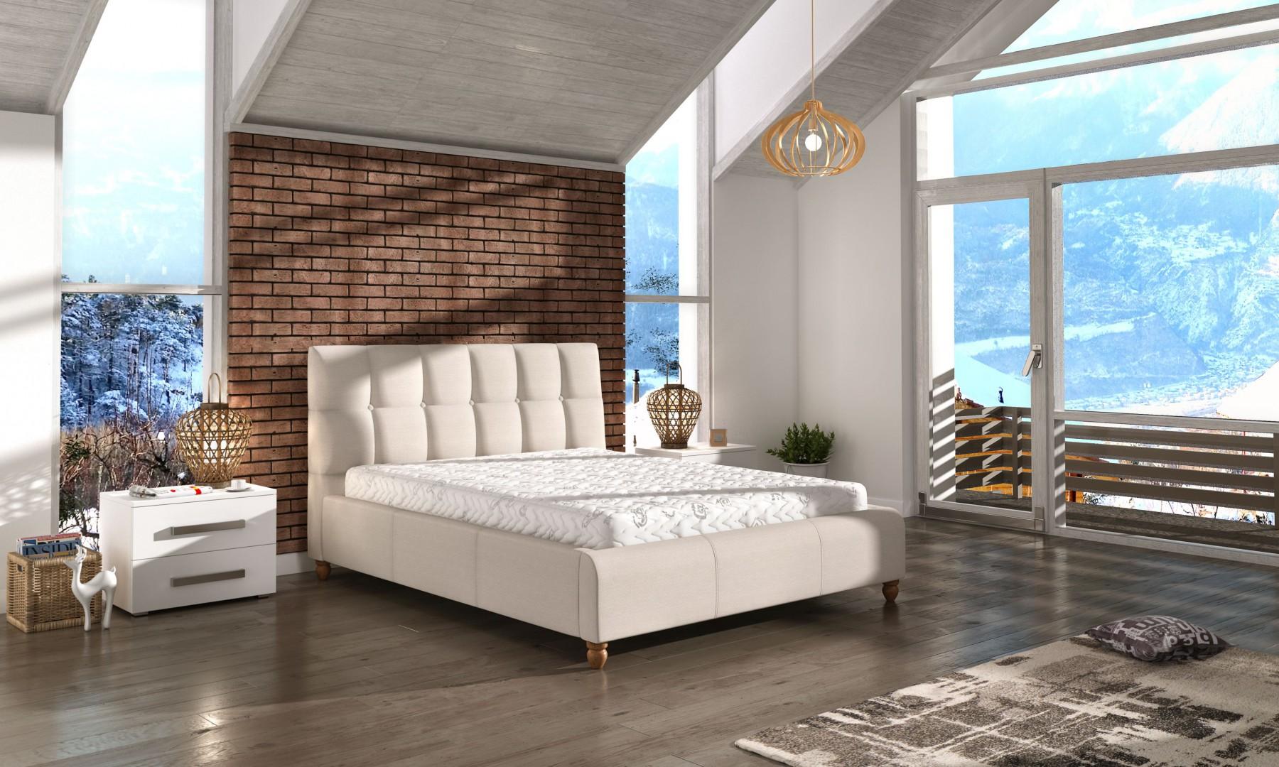 Łóżko tapicerowane Aston marki Comforteo. Fot. Comforteo