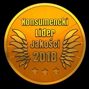 Konsumencki Lider Jakości 2018 - złoty medal