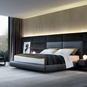 Łóżko zaprojektowane przez Marcela Wandersa dla marki Poliform. Fot. Studio Forma 96