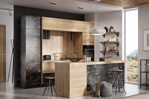 Składane fronty do wiszących szafek w kuchni