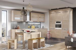 Kuchnie w kolorach drewna - ponadczasowy trend