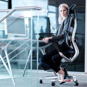Innowacyjny fotel biurowy będzie produkowany w Nidzicy. Fot. Blue Bird