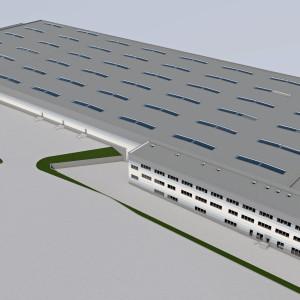Wizualizacja nowej hali firmy COM40
