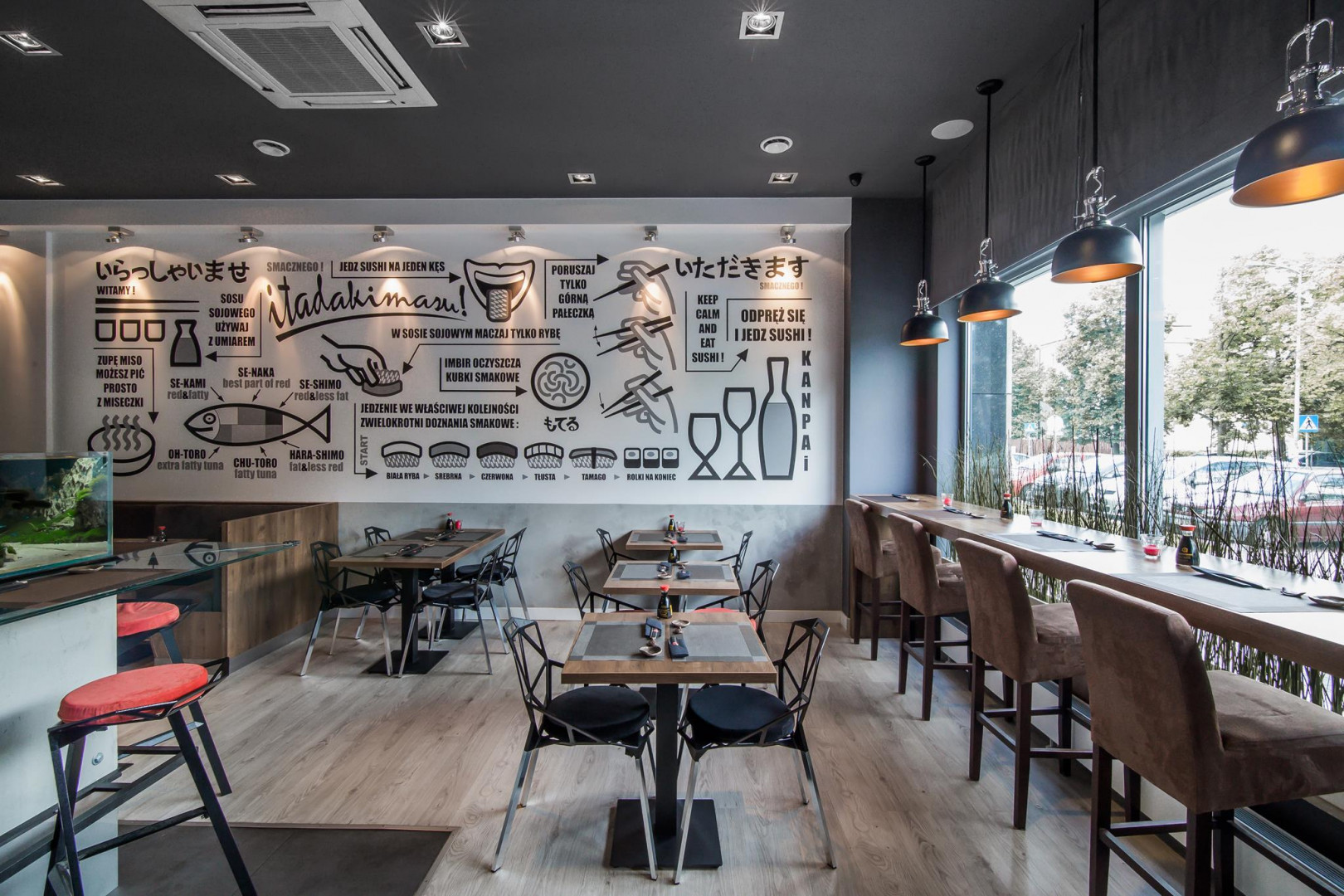 Restauracja Łuski Ości. Projekt: The Space