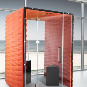 """Kabina akustyczna """"Wall"""" marki Vank daje możliwość pracy w skupieniu. Fot. Vank"""