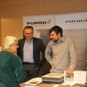 Prezentacja stoiska: firmy Ceramika Paradyż i Purmo.
