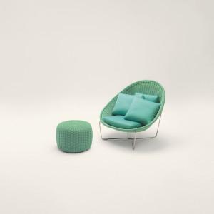 Fotel Nido. Projekt Paola Lenti. Fot. Rooms