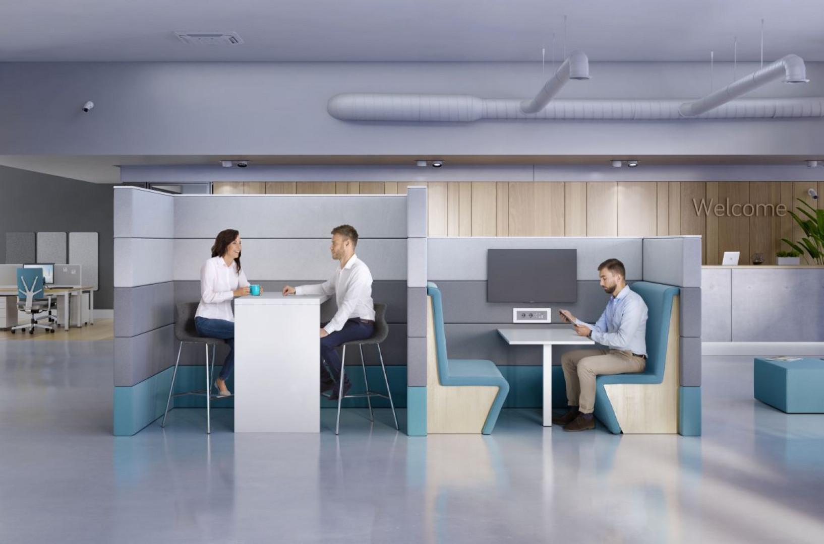 Na system Sand (Grupa Nowy Styl) składają się szafy, stoły i ścianki działowe pozwalające na zaaranżowanie ergonomicznego miejsca pracy. Fot. Grupa Nowy Styl