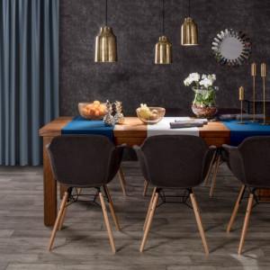 Krzesło Sogo Dark Grey pasuje do wnętrza w stylu artystycznym. Fot. Dekoria.pl