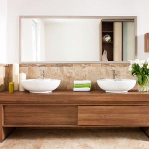 Małe fronty w meblach łazienkowych. Fot. Sevroll-System