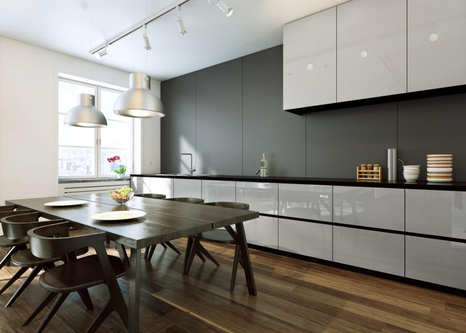 Fronty kuchenne wykonane ze szkła Colorimo Sati firmy Mochnik. Fot. Mochnik