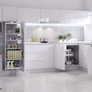 Nowoczesna i funkcjonalna kuchnia wymaga zaprojektowania zróżnicowanych stref przechowywania. Fot. Rejs