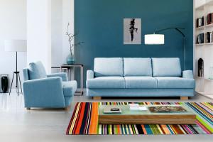 Życie w błękicie... - zobacz wnętrza z niebieskimi meblami!