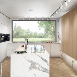 Kuchnia w stylu minimalistycznym, wyprodukowana przez firmę Zajc. Projekt: Moo Moo. Fot. Tom Kurek